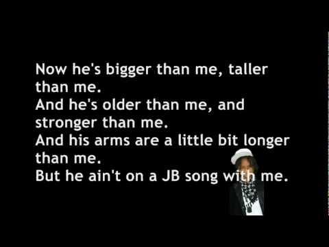 Justin Bieber ft. Jaden Smith - Never Say Never [ Lyrics on the screen ]