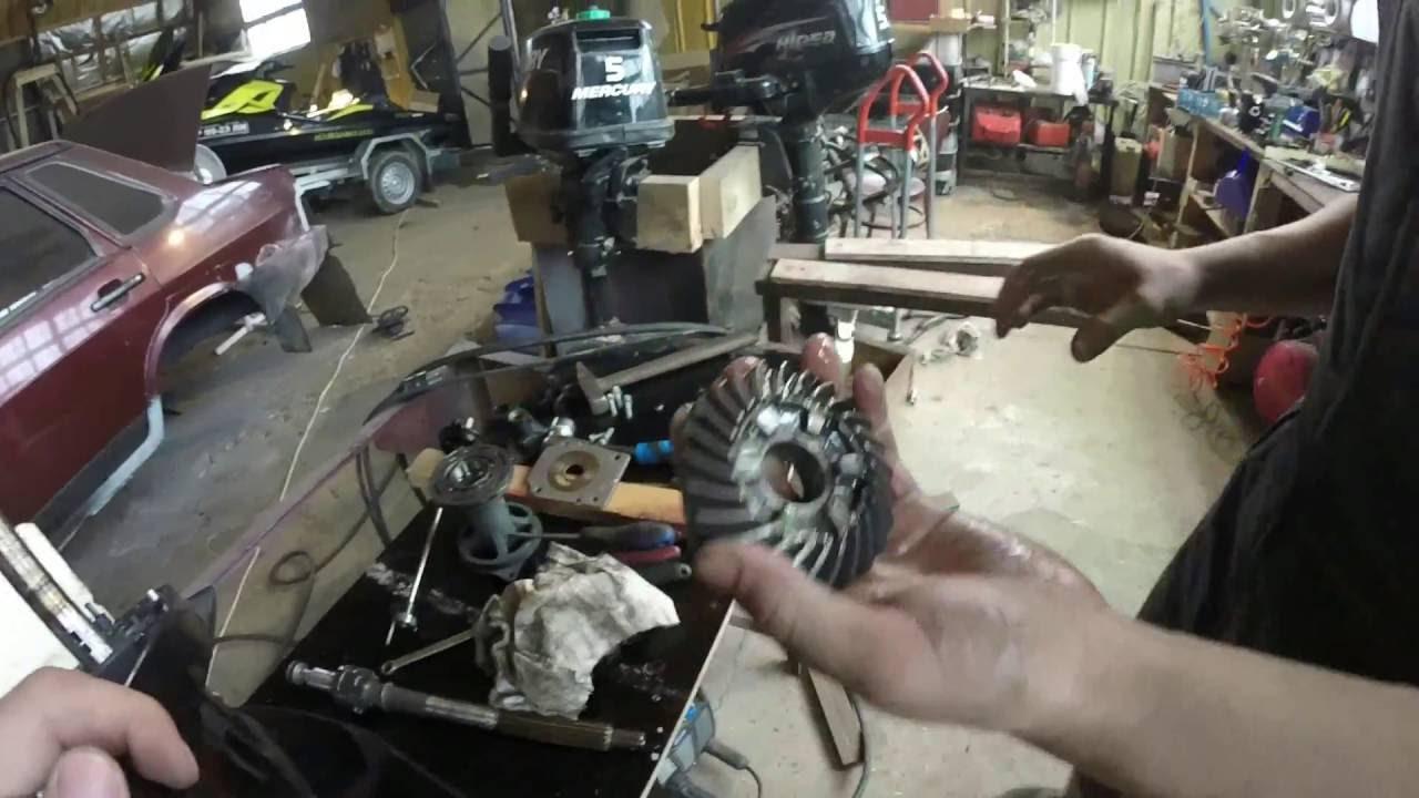 ремонт лодочном моторе honda bf 8