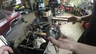 Разбор редуктора и гребного вала лодочного мотора Suzuki atl 90