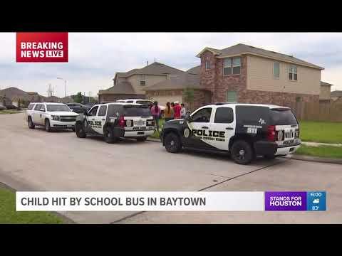 Child hit by school bus in Baytown