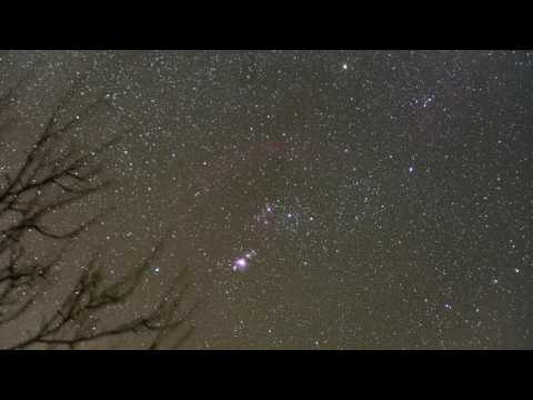 orion 4k sony a7s -  A incredible number of geostationary satellites