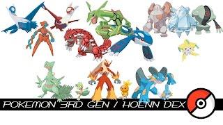 Pokemon 3rd Gen / Hoenn Dex