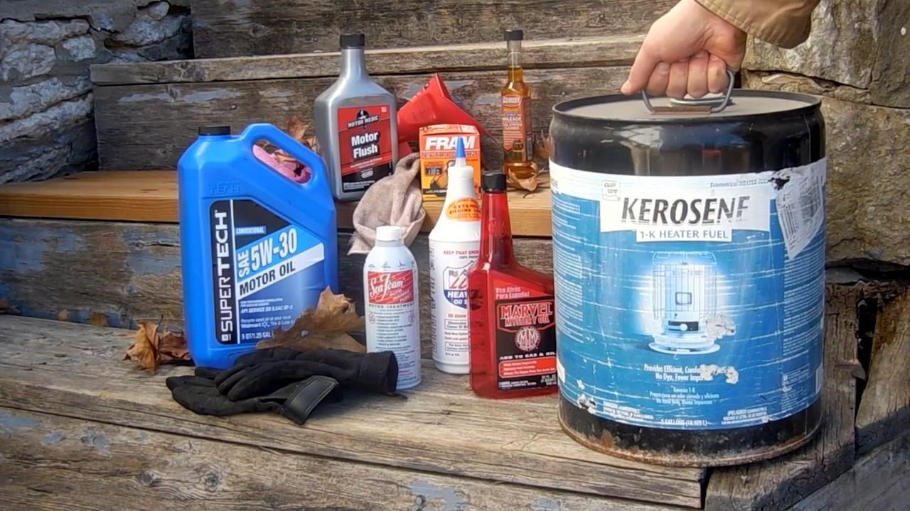 safe motor oil flush  kerosene youtube