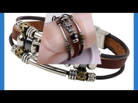 Buy Designer Jewelry Online-Tibetan silver men leather
