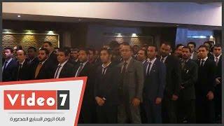 بالفيديو.. المحامون الجدد يؤدون اليمين القانونى أمام النقيب العام سامح عاشور