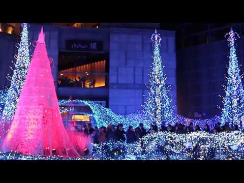 Magical XMAS Lights Tokyo Top 10 Best Complete Show Shiodome 汐留 Caretta Illumination Japan