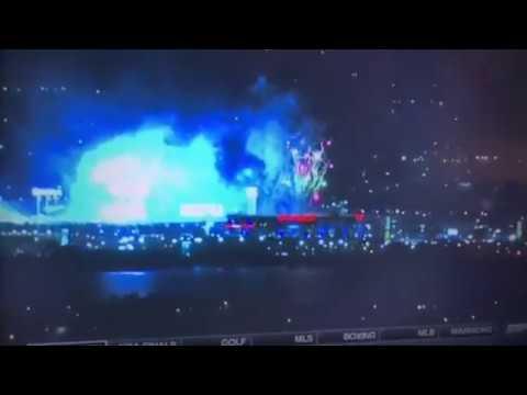 Oracle Arena Fireworks As Oakland Celebrates Warriors 2018 NBA Championship