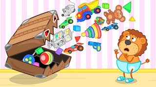 Lion Family SuperSuitcase with Toys Cartoon for Kids