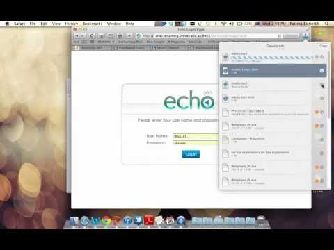 How To Download Mp3 Files From Echo @ USYD...