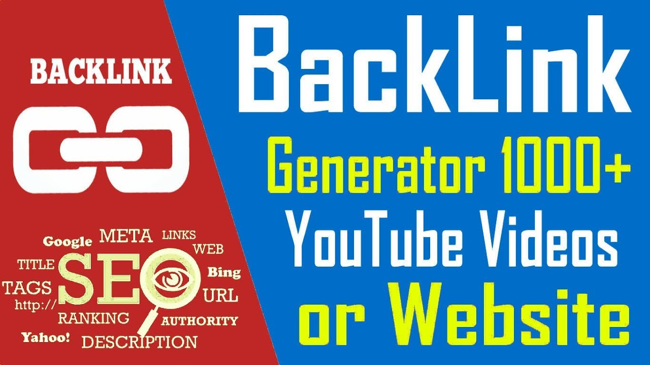 BackLink Generator 1000+ YouTube Videos or Any Website | Youtube Tutorial