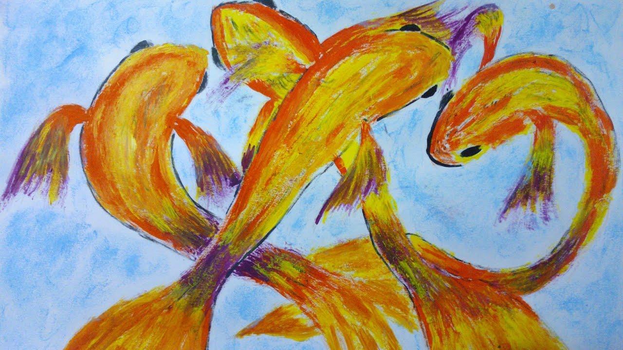 C mo pintar peces en pintura acr lica painting fishes for Cuadros con peces
