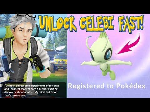 UNLOCK CELEBI QUICKLY!! Fast RESEARCH GUIDE for CELEBI in Pokemon Go