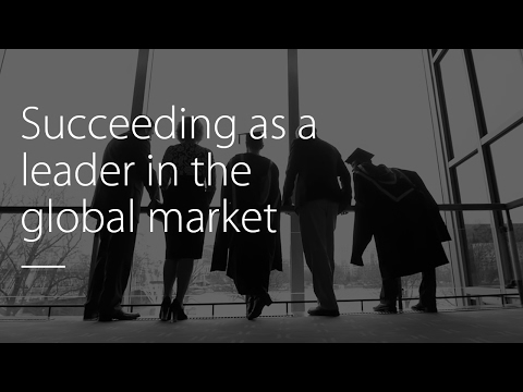 Succeeding as a leader in the global market