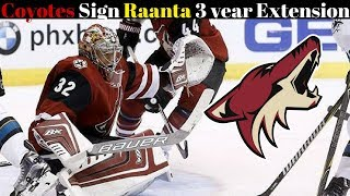 Coyotes Sign Raanta To Contract Extension