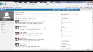 Office 365: Using the Newsfeed