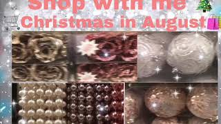 Shop with me Christmas in August/glam decor