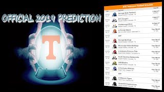 2019 TENNESSEE VOLS GAME BY GAME PREDICTION