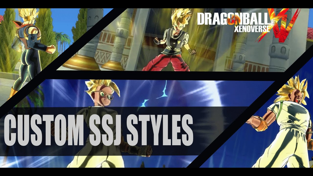 Hairstyles Xenoverse Mod : Dragonball Xenoverse Mods: Female and Male Custom SSJ Styles - YouTube