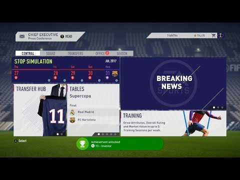 All 4 Career Mode Achievements / Trophies - Fifa 18
