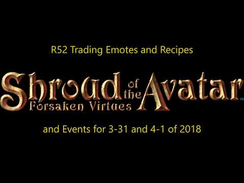 Shroud of the Avatar-Recipe and Emote Trading - Find launch events for free ones