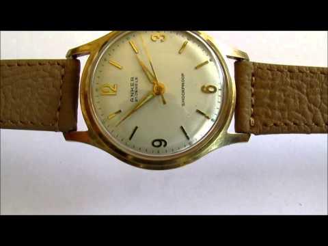 anker vintage men's wristwatch 21 jewels