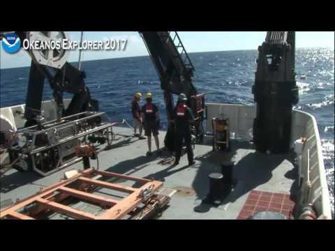Okeanos Explorer ROV Dive July 21 2017 Recovery Cam 2
