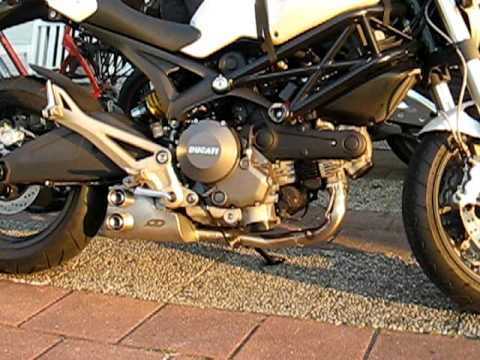 verheul monster 696 ducati with qd ex-box - youtube