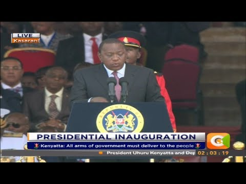 Presiden Kenyatta's Speech after the swearing in Ceremony