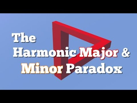 The Harmonic Major and Minor Paradox