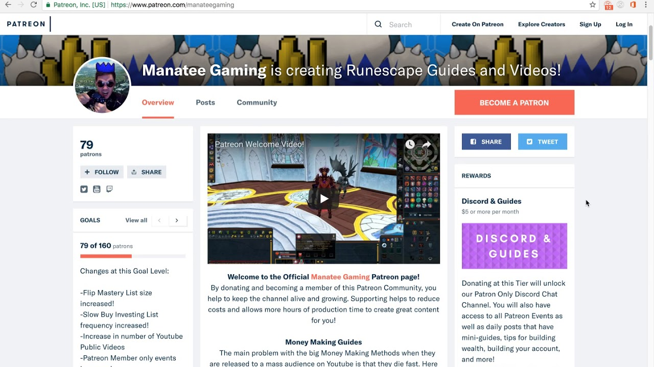Manatee Gaming Runescape is creating Runescape Money Making