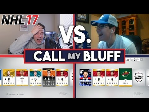 NHL 17 CALL MY BLUFF CHALLENGE w/ LEAFER