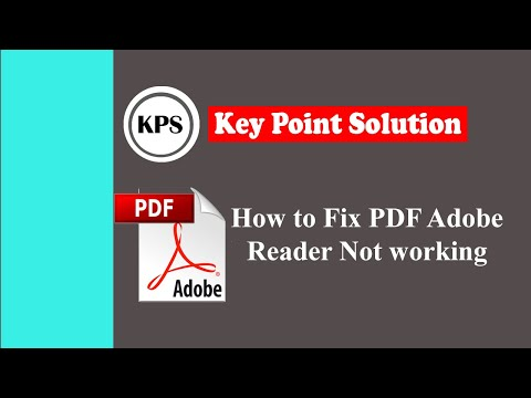 How To Fix PDF Adobe Reader Not Working