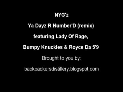 NYG'z - Ya Dayz R Number'D remix