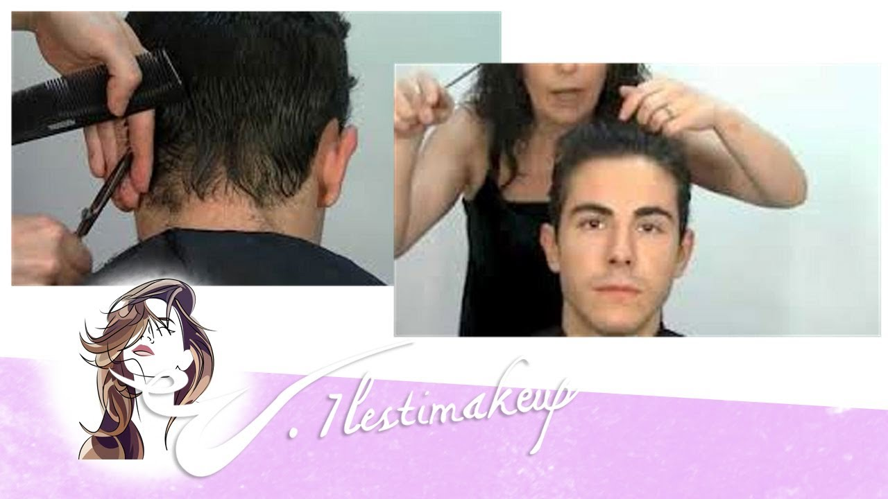 Corte de pelo patilla y nuca
