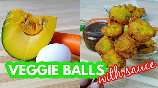 VEGGIE BALLS | Ganito ang Gawin mo sa Kalabasa at Carrot | with Fishball Sauce Recipe