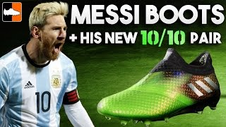 Every messi adidas boot & his new 10/10 kryptonite pair!