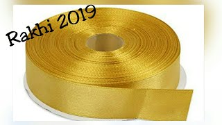 Latest Rakhi Design/Rakshbandhan 2019/New design Rakhi/Rakhi for competition/DIY/Homemade Rakhi