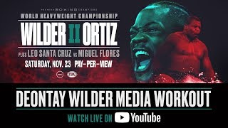 Deontay Wilder Media Workout - Live from Northport Alabama