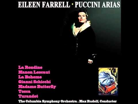 Eileen Farrell. Visi d'arte. Tosca. Giacomo Puccini.
