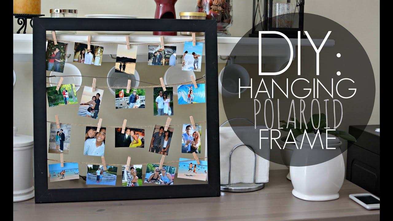 Diy Hanging Polaroid Frame Simple Quick Youtube