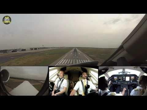 KISS LANDING: Citation Sovereign Jet perfectly touches the Runway in Düsseldorf [AirClips]
