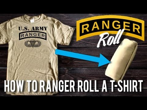 How to ranger roll t shirt tshirt help desk youtube for T shirt help desk