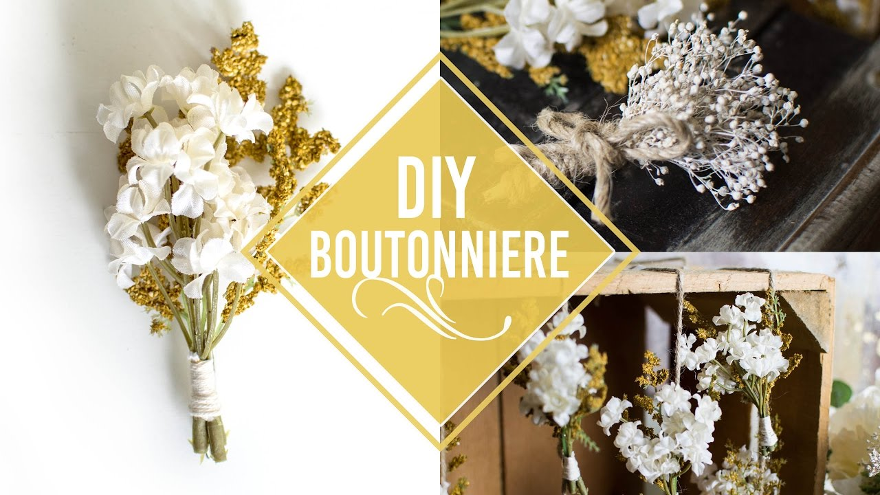 Diy Rustic Boutonnieres More Ways To Use Them Youtube
