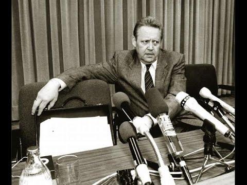 Schabowskis Pressekonferenz - 09.11.1989 - fast volle Länge + Berliner Mauer