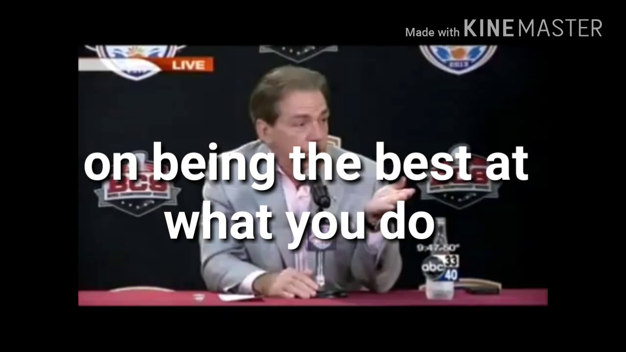 Nick Saban Quotes Martin Luther King Jr Youtube