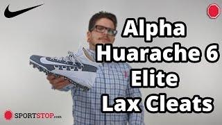 Nike Alpha Huarache 6 Elite Lacrosse Cleats 2019 Colors Product Video