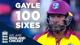 vuclip Chris Gayle Reaches 100 Sixes In Blistering 40 Off 20 Balls v England 2017 - Full Highlights