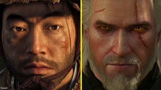 Ghost of Tsushima vs The Witcher 3 PS4 Pro Graphics Comparison