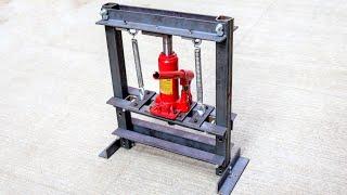 How To Make Hydraulic Press Machine | mini hydraulic machine | Without Welding