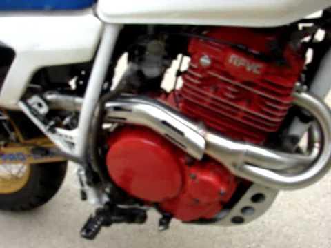 XR's Only full header/muffler exhaust sound on a Honda XL600R - YouTube